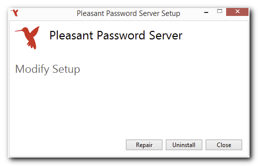 Uninstall Password Server