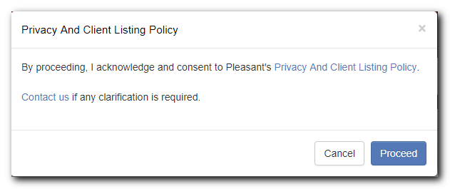 Privacy Policy and Client Listing