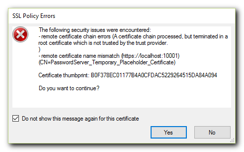 SSL Policy Error