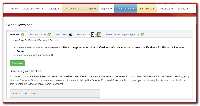 KeePass Desktop Client - Pleasant Solutions