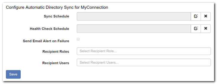 Automatic Directory Sync for MyConnection