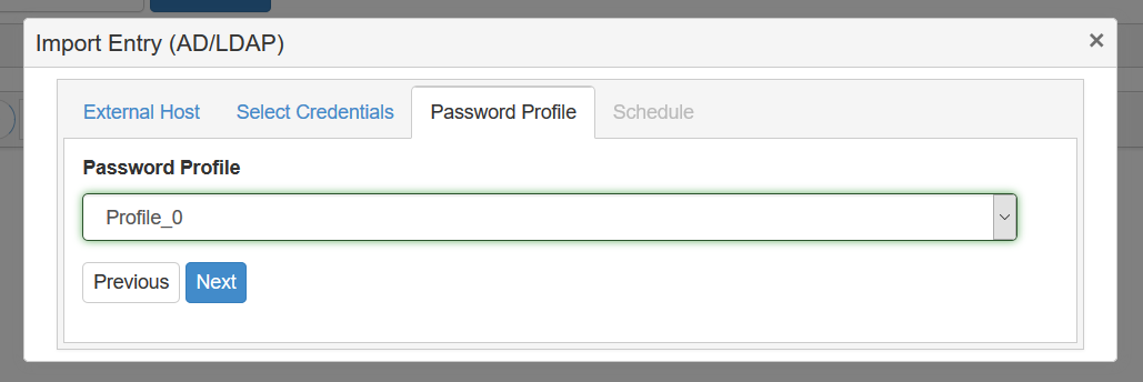 Password Profile