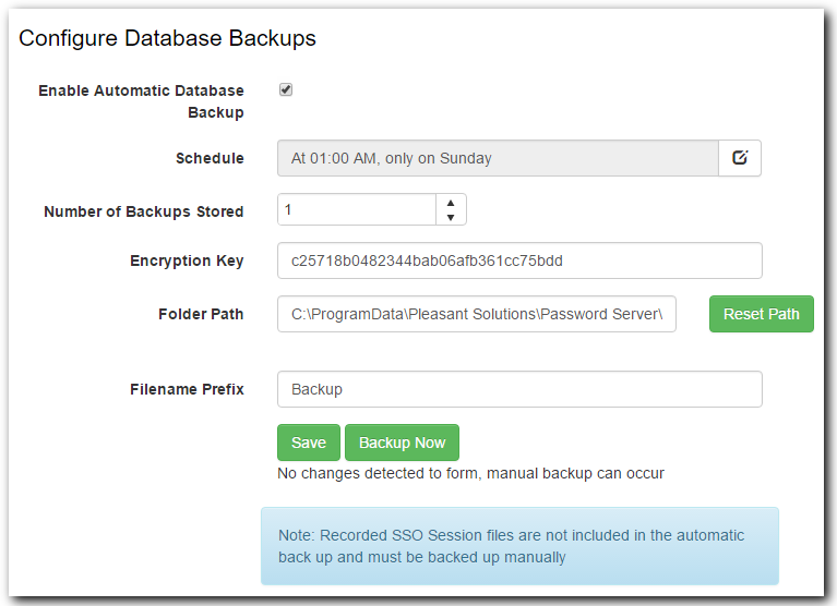configure database backups